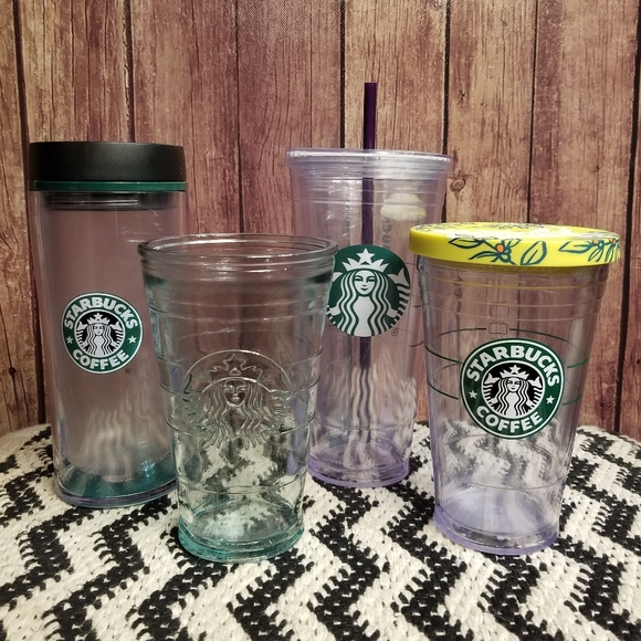 Starbucks Tumbler Cold Cups Set of Four